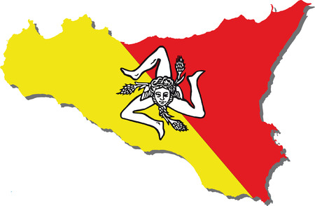 flag of sicily Illustration