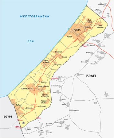 governed: gaza strip map