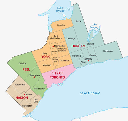 greater: greater toronto area administrative map