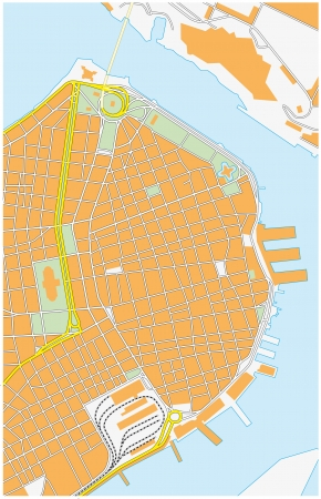 havana: havana city map Illustration