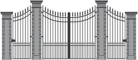 front: iron gate