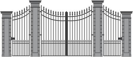 puertas de hierro: puerta de hierro