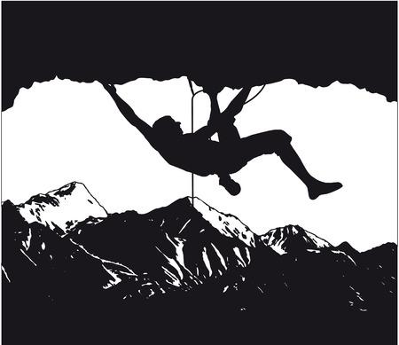 bergsteiger: Kletterer, Bergsteiger Illustration