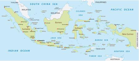インドネシア地図 写真素材 - 31064175