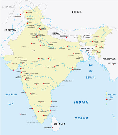 south india: india map