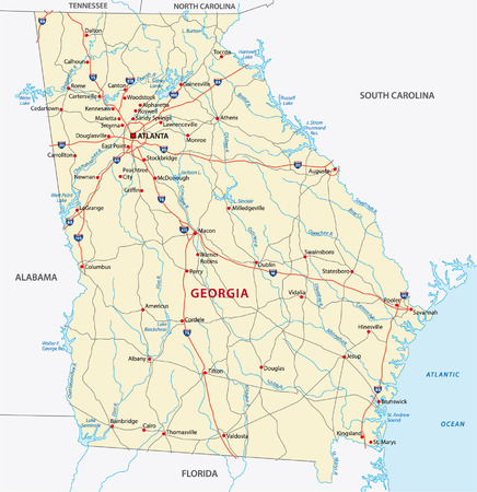 georgia: georgia road map