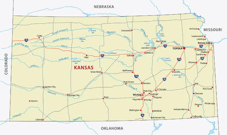 colorado: kansas road map