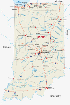 indianapolis: indiana road map