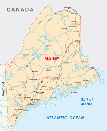 municipalit�: maine feuille de route Illustration