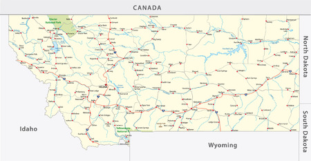 Wyoming Road Map With Flag Royalty Free Cliparts Vectors And Stock