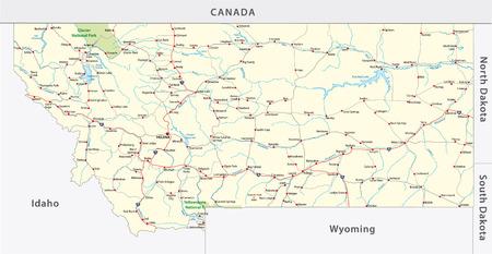 montana road map