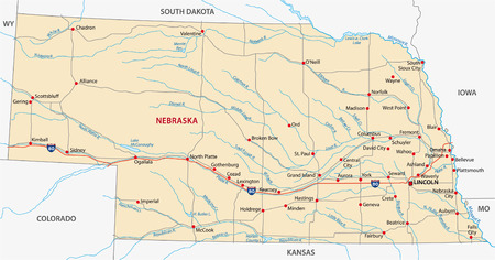 plains: nebraska road map