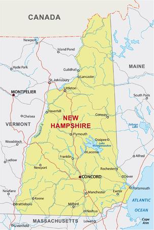 hampshire: new hampshire road map