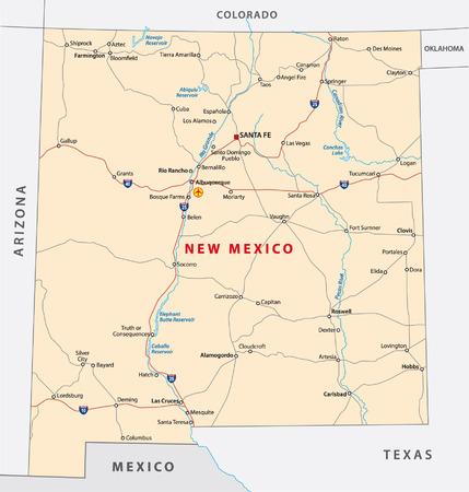 ニュー メキシコのロードマップ 写真素材 - 32312437