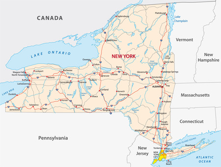 hudson river: new york state road map