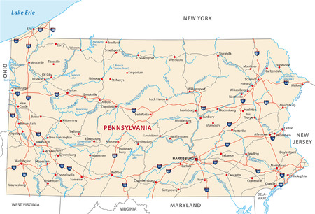 pennsylvania road map