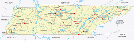 tennessee road map Vector