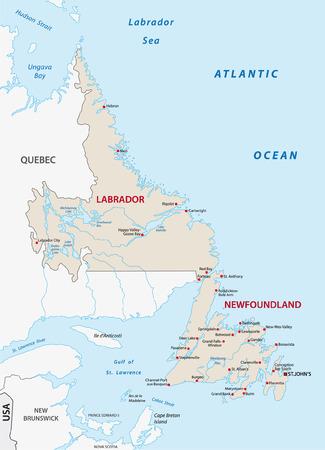 labrador: newfoundland and labrador map