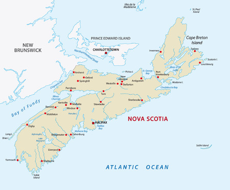 Nova Scotia map Vector