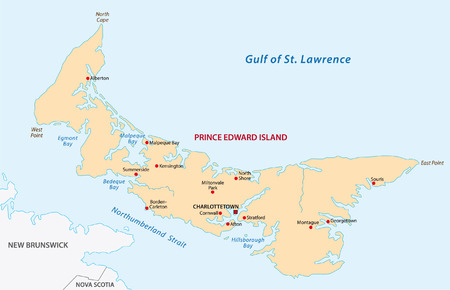 prince edward island  map Vector
