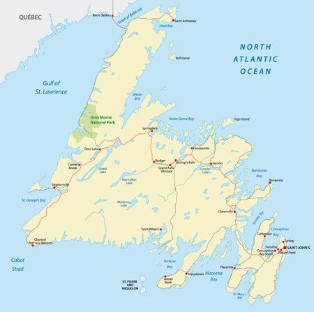 atlantic city: newfoundland road map