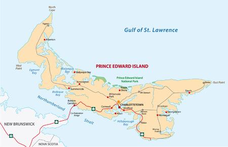 edward: Prince Edward Island road map