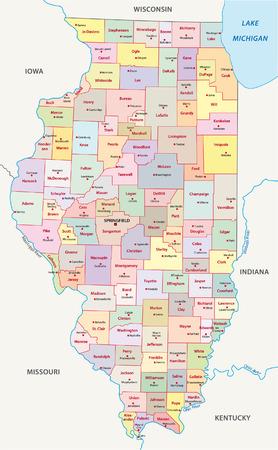 illinois administrative map