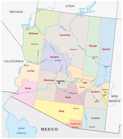 arizona: arizona administrative map