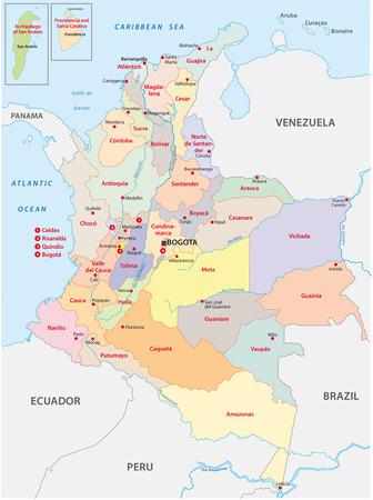 コロンビアの行政地図
