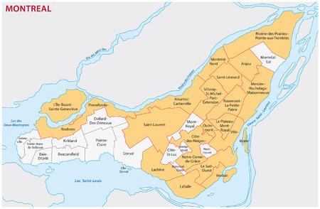 montreal administratieve kaart
