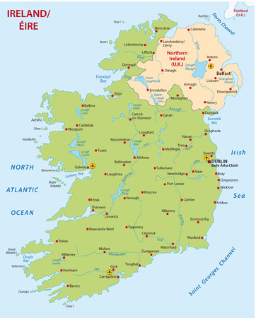 ireland map Vectores