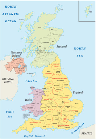 of the united kingdom: united kingdom administrative map