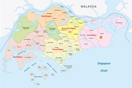 Administrative divisions of singapore 일러스트