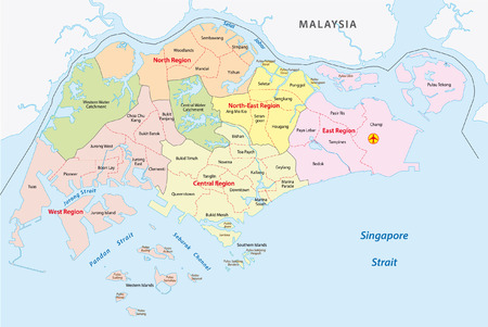 Administrative divisions of singapore Illustration