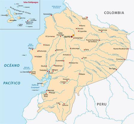 republic of ecuador: ecuador map