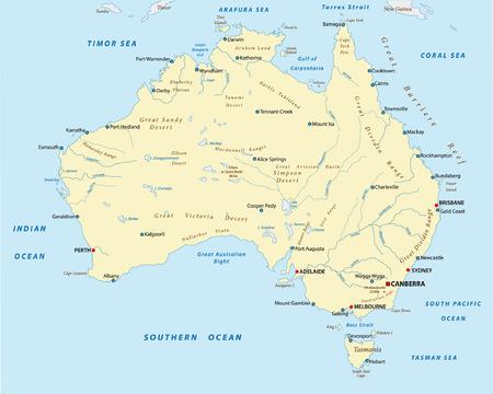 Australie paysage carte Banque d'images - 33422200