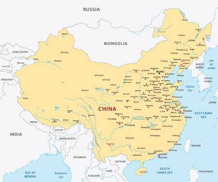 China mapa Foto de archivo - 33427785
