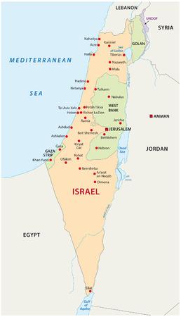 이스라엘지도 일러스트