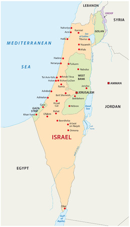 israel jerusalem: Israel map