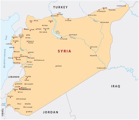oriente: mapa siria Vectores