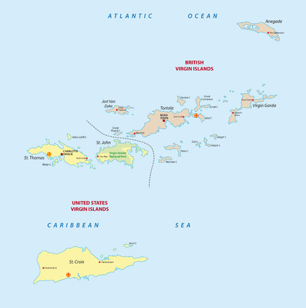 virgin islands: virgin islands map