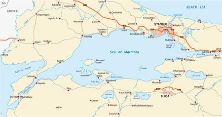 marmara: sea of marmara map