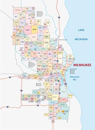 milwaukee: milwaukee neighborhood map
