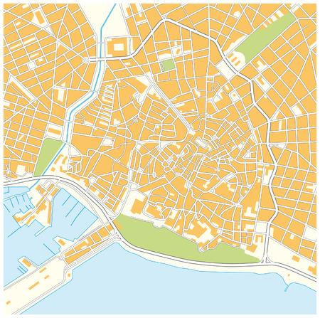 majorca: Palma de Mallorca city map