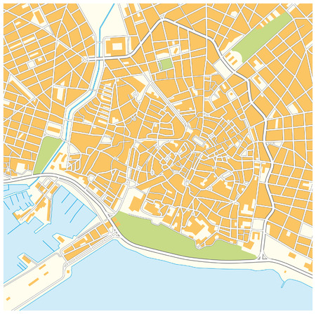 Palma de Mallorca city map