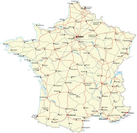 carta stradale francia