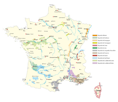 wine-growing areas in France