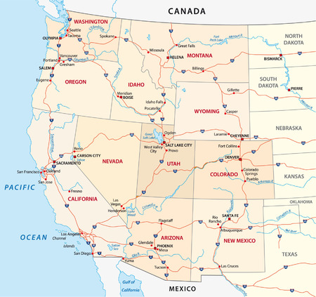 Western United States Map Royalty Free Cliparts Vectors And Stock Ilration Image 33558710