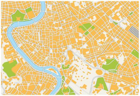 ローマ市内地図  イラスト・ベクター素材