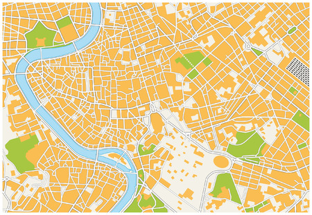 capital cities: Rome city map Illustration
